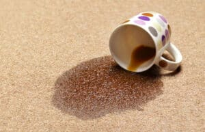 A-spilt-cup- of- coffee -on- a -carpet