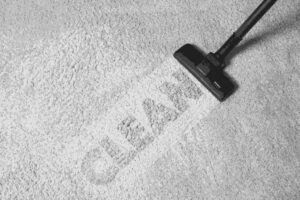 How to do you benefit from clean carpets- photo of 'Clean' being imprinted on a carpet