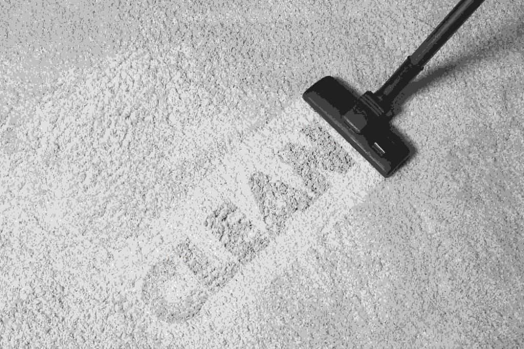 photo of 'Clean' being imprinted on a carpet
