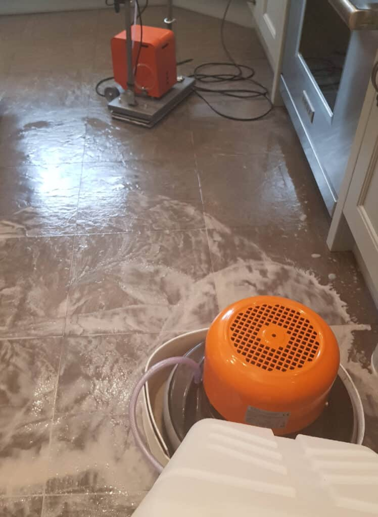 Photo of ceramic tile cleaning