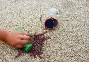 Red wine stain removal Wine stain spillage