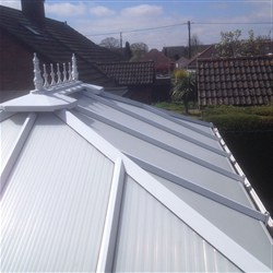 conservatory roof after cleaning, Stirlingshire